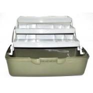 Ящик рыбацкий AQUATECH-1703, 3-полочный, непрозрачный