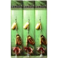 Блесна вращающаяся двойная Кондор, цвет 133, 8гр