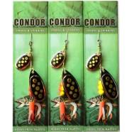 Блесна вращающаяся шумовая двойная Condor, цвет 117, 10гр
