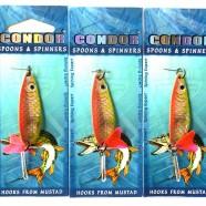 Блесна-колебалка двойная Кондор, 3 крючка, цвет 33, 10гр