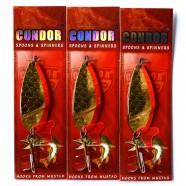 Блесна колеблющаяся двойная Кондор, цвет 56, 25гр