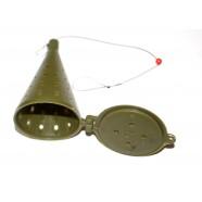 Кормушка для рыбалки отвесная ADAMS, оснащенная, длина 75мм