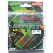 Шнур BratFishing ESPIRIT GREEN, зеленый, плетение 8 нитей, 100м.