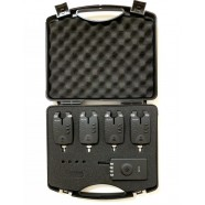 Набор сигнализаторов поклевки электронных Big Fish, модель 524, 4шт + пейджер