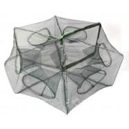 Раколовка для рыбалки шестиугольник, 6 входов