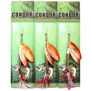 Блешня-вертушка подвійна Кондор, колір 125, 15гр