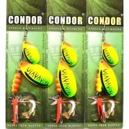 Блесна вращающаяся двойная Кондор, цвет CB03, 15гр
