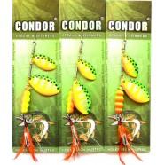 Блешня-вертушка подвійна Condor, цвет17, 15гр