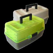 Ящик для рыбалки AQUATECH-1703Т, 3-полочный, прозрачный