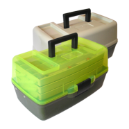 Ящик для риболовлі AQUATECH-1703Т, 3-поличний, прозорий
