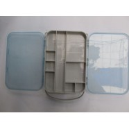 Коробка для мелочей рыбацкая AQUATECH-2515, 15 ячеек, двусторонняя