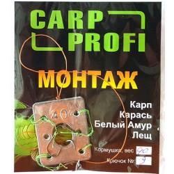 Кормушка оснащенная Carp Profi макушатник-свинец