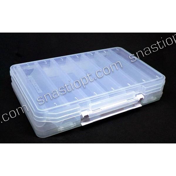 Коробка AQUATECH-17500, двостороння для воблерів 14 яч, довжина яч. 16см