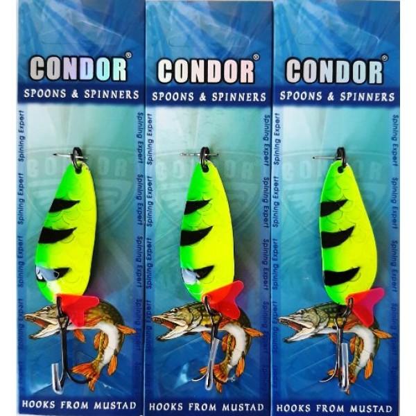 Блесна Condor колеблющаяся, цвет 80, 15гр