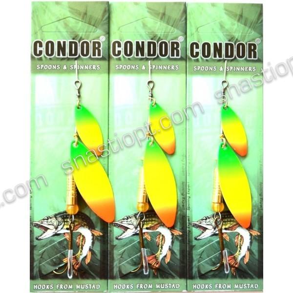 Блесна двойная вращающаяся Condor, цвет 187, 10гр