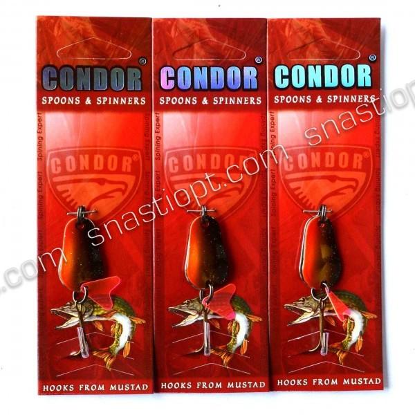 Блесна-колебалка двойная, Condor, цвет 17, 8гр