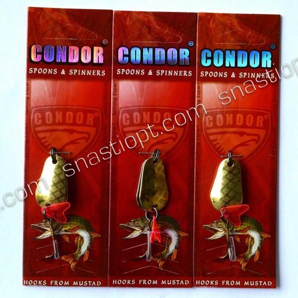 Блесна колеблющаяся двойная Condor, цвет 19, 8гр