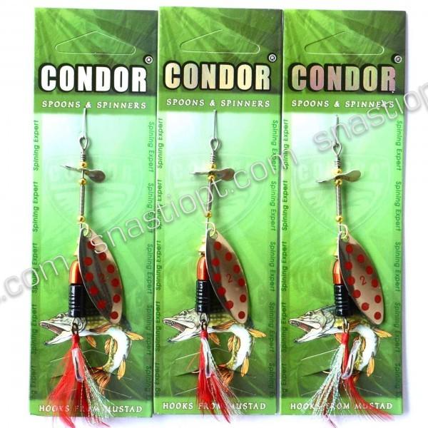 Блесна на хищника вращающаяся Кондор, цвет 154, 12гр