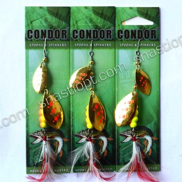 Блесна-вертушка двойная Condor, цвет 165, 15гр