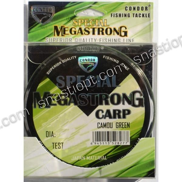 Леска рыболовная Condor MegaStrong Special Carp CAMOU GREEN, 300м