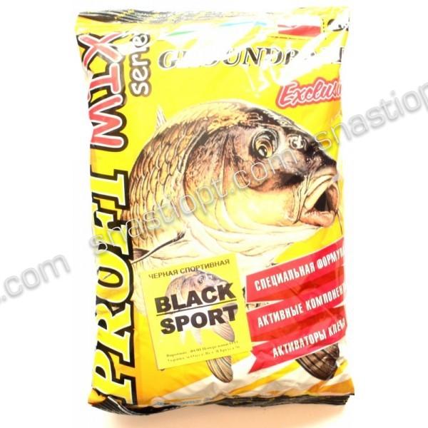 Прикормка для рыбалки PROFI MIX, Black Sport (Черная Спортивная), 1кг
