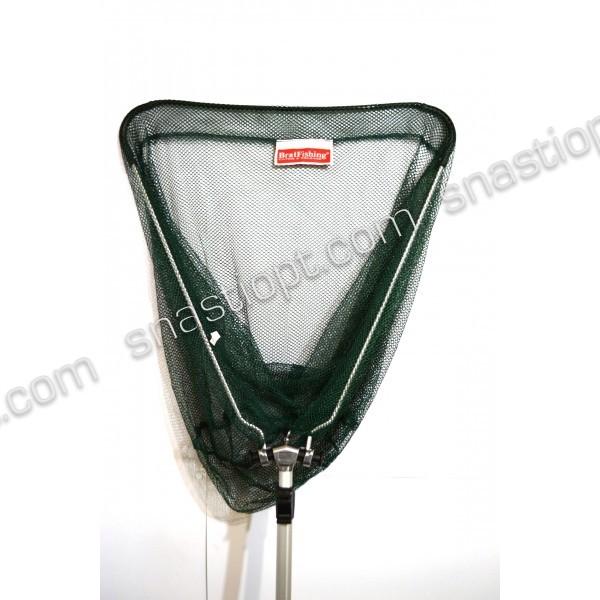 Підсак для риби БратФишинг трикутний складаний з телескопічною ручкою, Ø 50 см