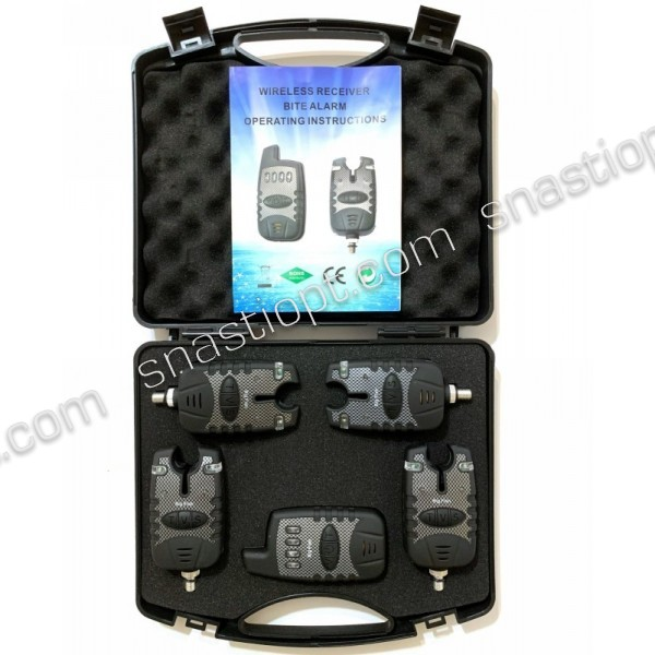 Набір електронних сигналізаторів покльовки Big Fish, модель 525, 4шт + пейджер