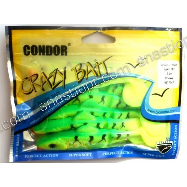 Твистер Condor Crazy bait FSB07, 105мм, 6шт