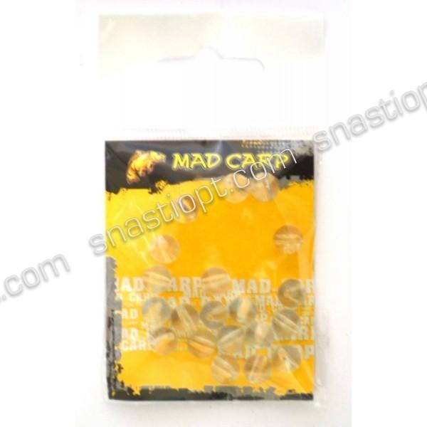 Стопорний кулька Mad Carp 8 мм напівпрозорий (силікон) 20 шт