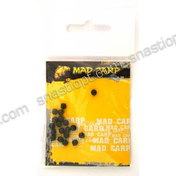 Кулька стопорний Mad Carp 4 мм (силікон) болотний 20 шт