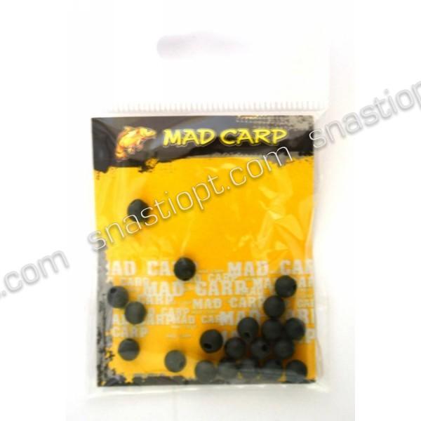 Стопорний кулька Mad Carp 6 мм (силікон) болотний 20 шт