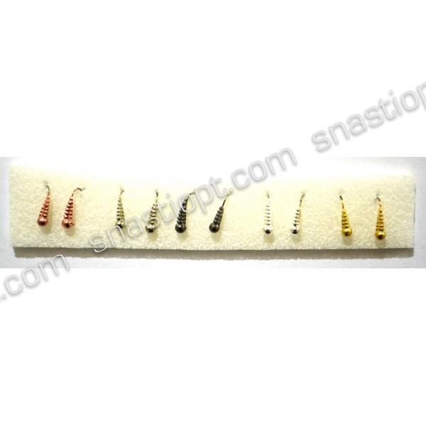 Набір мормишек вольфрамових ADAMS Личинка, розмір S, кр. №16, вага 0,6 м, 10шт