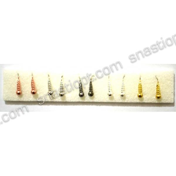 Набор вольфрамовых мормышек ADAMS Личинка, размер М, кр. №14, вес 1г, 10шт