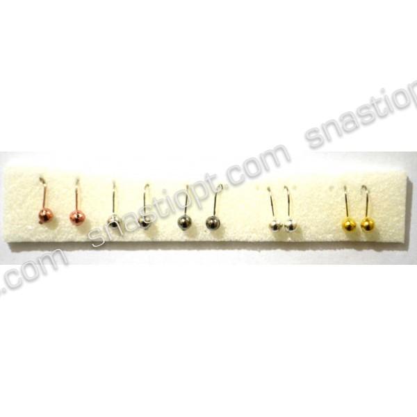 Набор вольфрамовых мормышек Адамс Шар, диаметр 4мм, кр. №14, вес 0,65г, 10шт