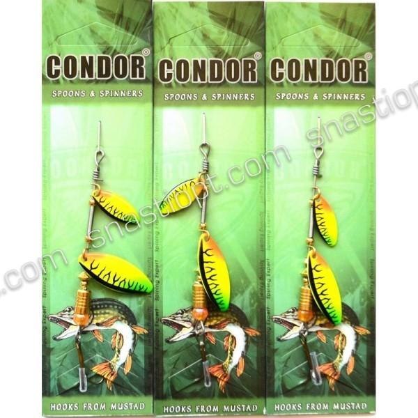 Блесна-вертушка двойная Condor, цвет C06, 6гр