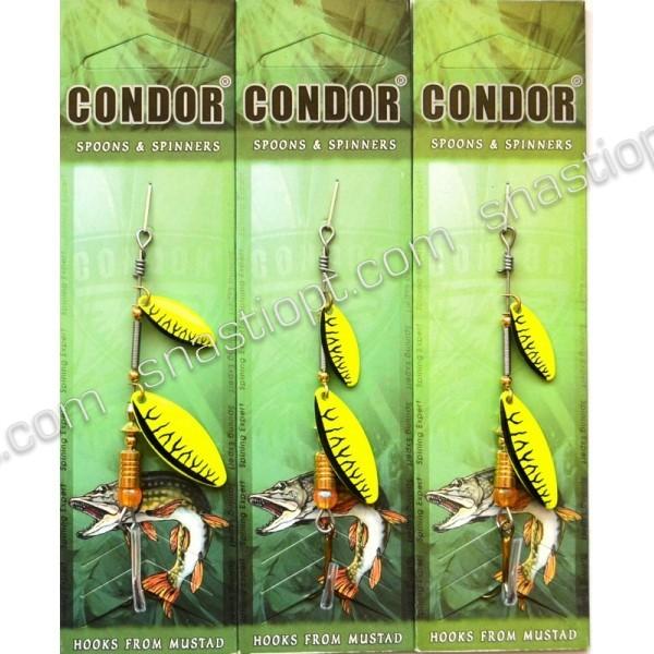 Блесна-вертушка двойная Кондор, цвет C09, 6гр