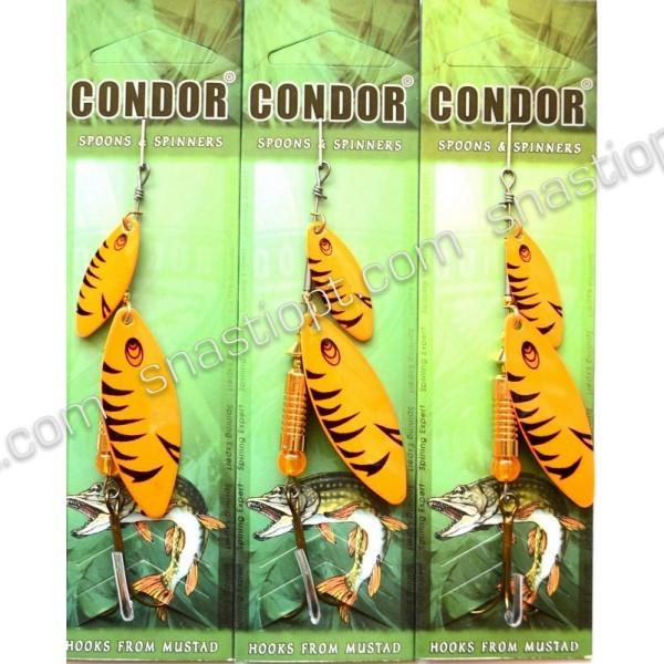 Вращающаяся двойная блесна Condor, цвет C03, 10гр