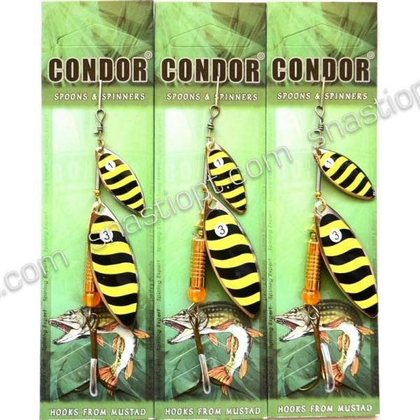 Блесна вращающаяся двойная Кондор, цвет 144, 10гр