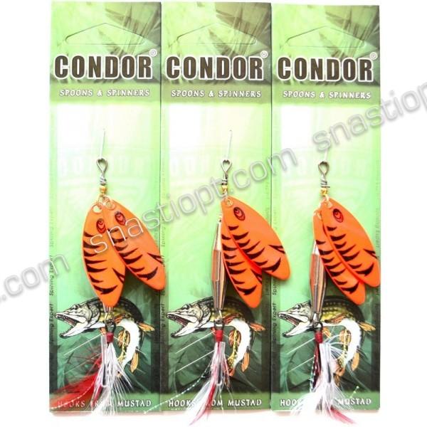 Блешня-вертушка подвійна Condor, колір C08, 15гр