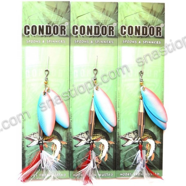Вращающаяся блесна двойная Condor, цвет 12, 15гр