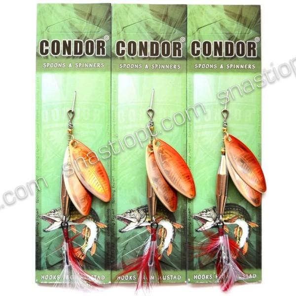 Блесна-вертушка двойная Кондор, цвет 125, 15гр