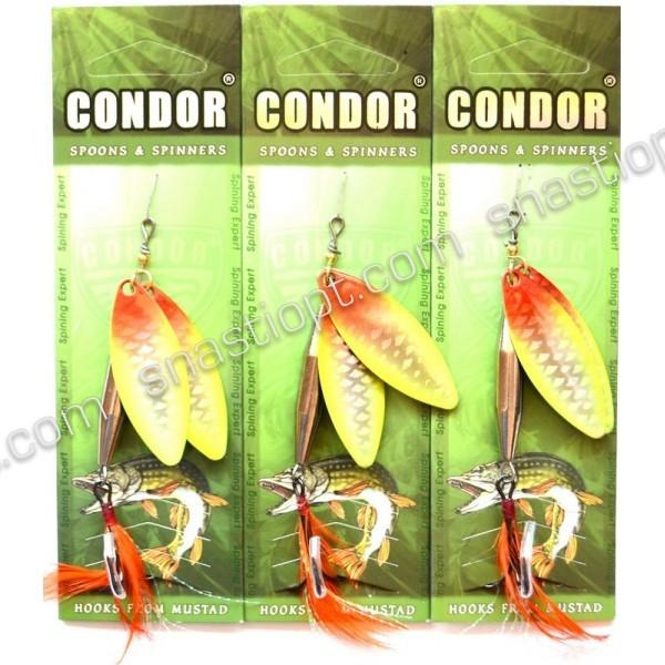 Блесна вращающаяся двойная Кондор, цвет 401, 20гр