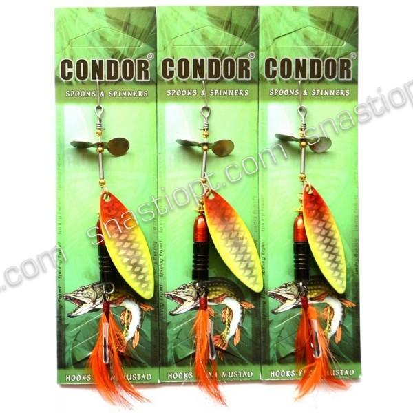 Блесна-вертушка Condor, цвет H401, 15гр
