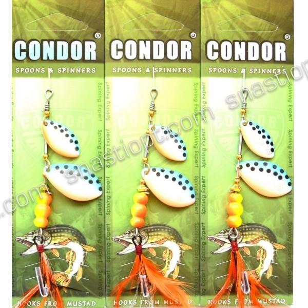 Блесна-вертушка двойная Condor, цвет 16, 11гр