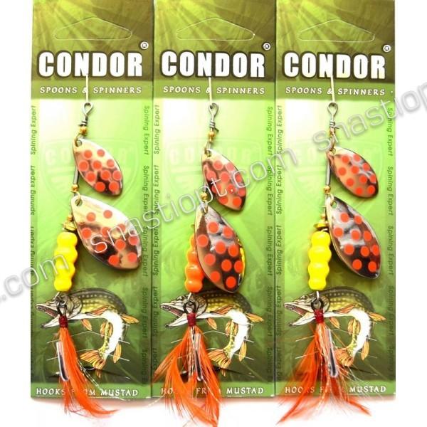 Блесна-вертушка двойная Condor, цвет154, 15гр