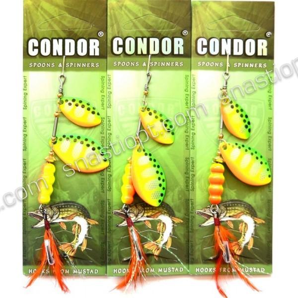 Блесна-вертушка двойная Condor, цвет17, 15гр