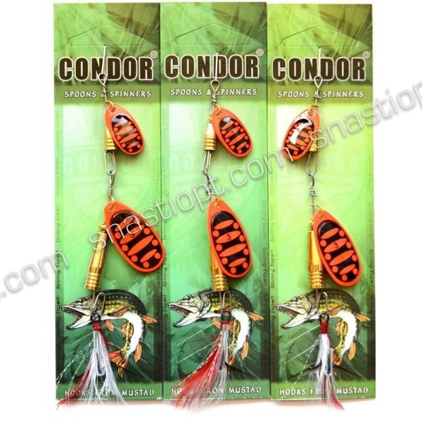 Вращающаяся двойная блесна Кондор, цвет B15, 10гр