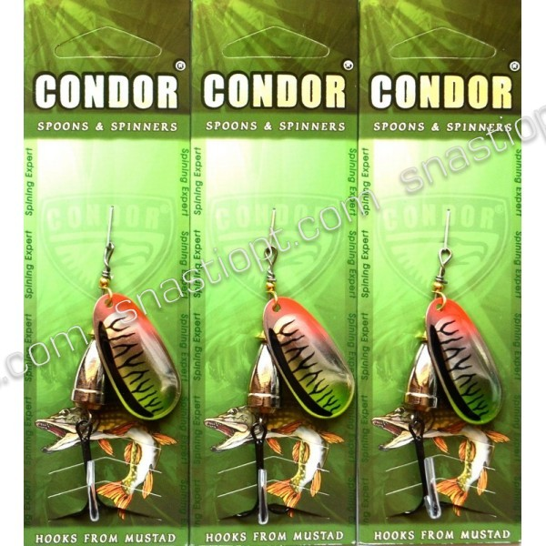 Вращающаяся блесна Кондор, цвет CB04, 10гр