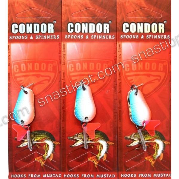 Блесна колеблющаяся двойная Condor, цвет 12, 8гр