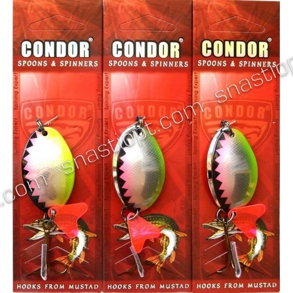 Блесна-колебалка двойная Condor, цвет A006, 12гр